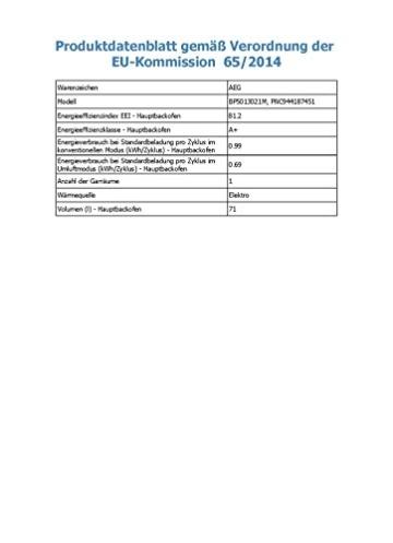 AEG BP5013021M Backofen - 3