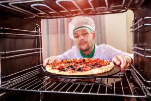Backofen Pizzastufe