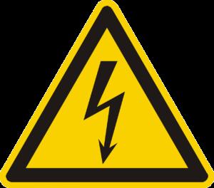 Strom Warnzeichen